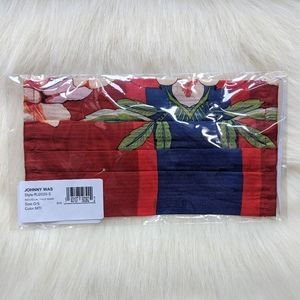 NWT Johnny Was Silk Floral Face Mask